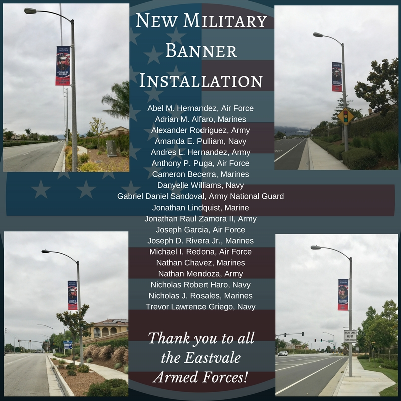 Military Banner Installation