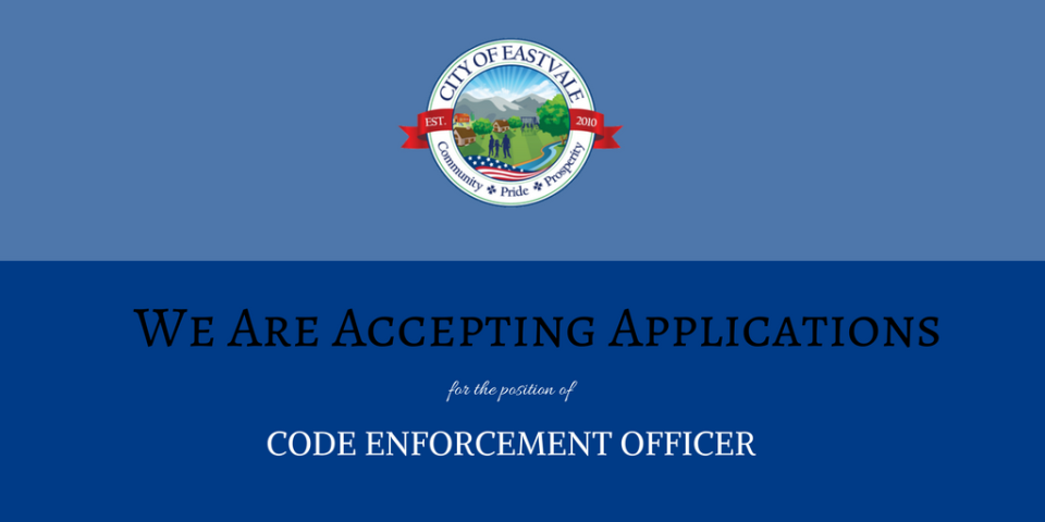 Accepting Applications_Code Enforcement
