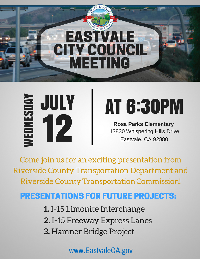 EASTVALE CITY COUNCIL MEETING (1)