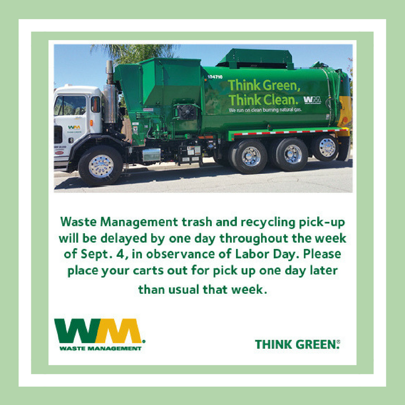 Waste Mgmt - Labor Day