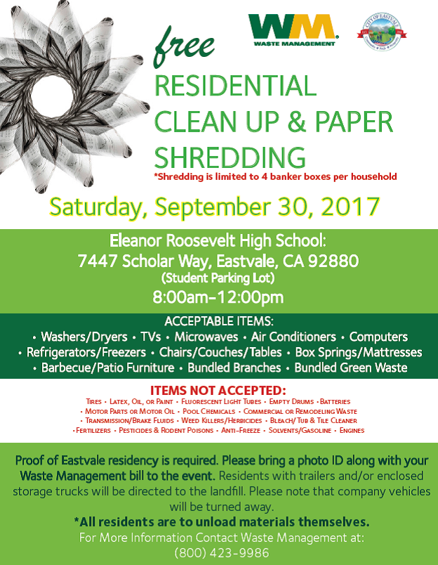 Community Clean Up September 30, 2017