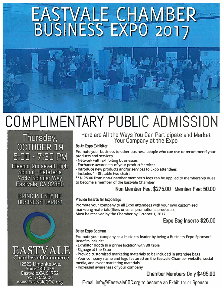 ECOC Business Expo Flyer