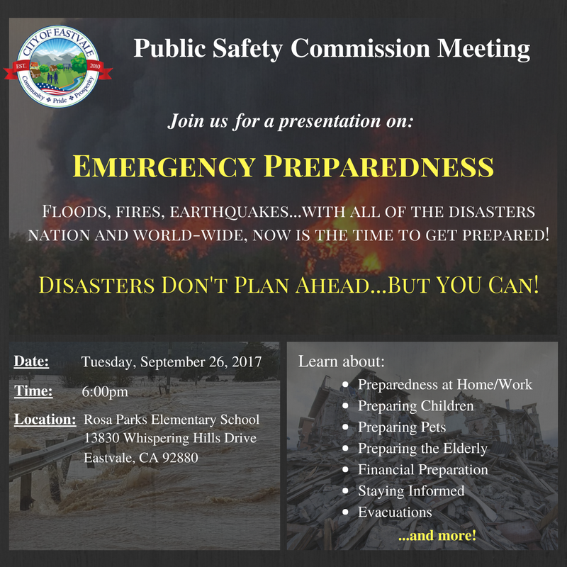 Disasters Don't Plan Ahead...But YOU Can!