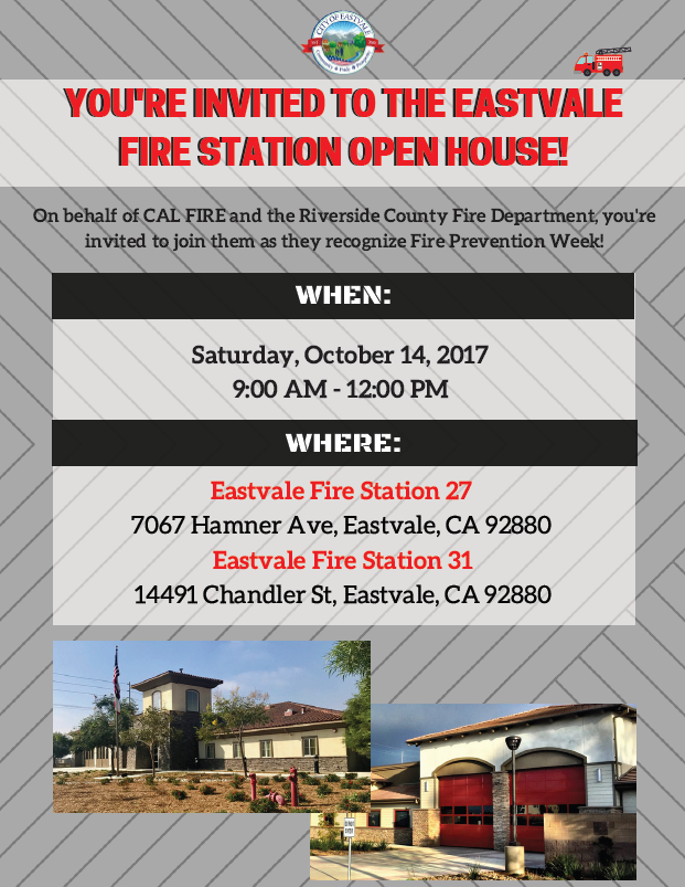 Fire Station Open House Flyer