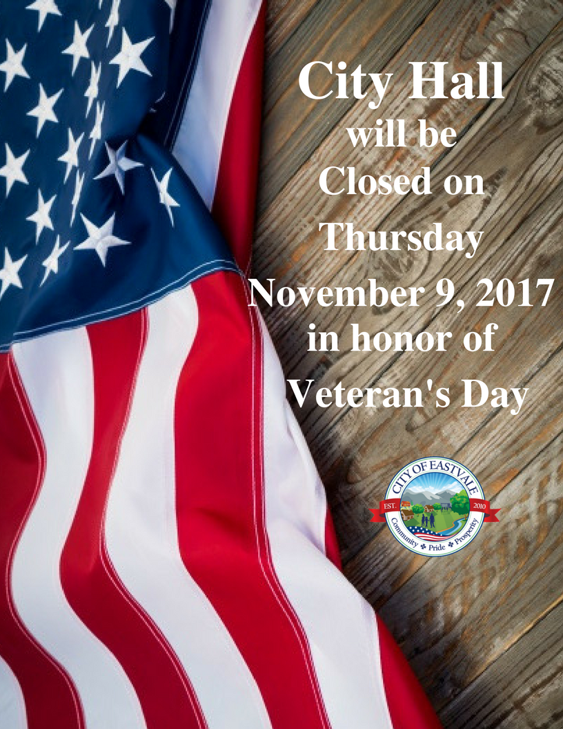 Closed Veterans Day