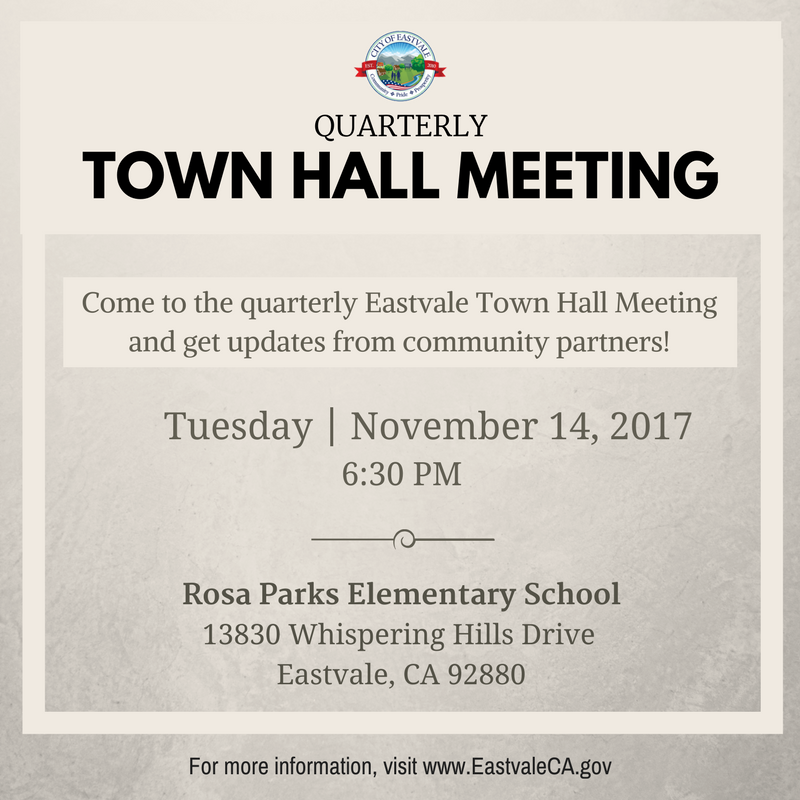 Quarterly Town Hall Meeting 11-14-17