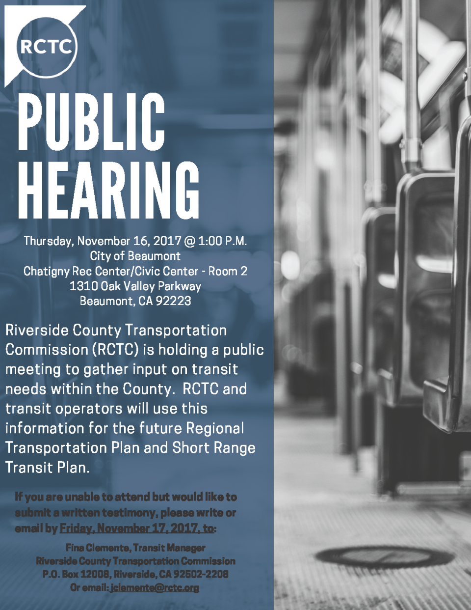 RCTC Public Hearing 11-16-17
