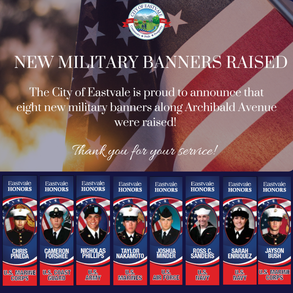 New Military Banners Raised