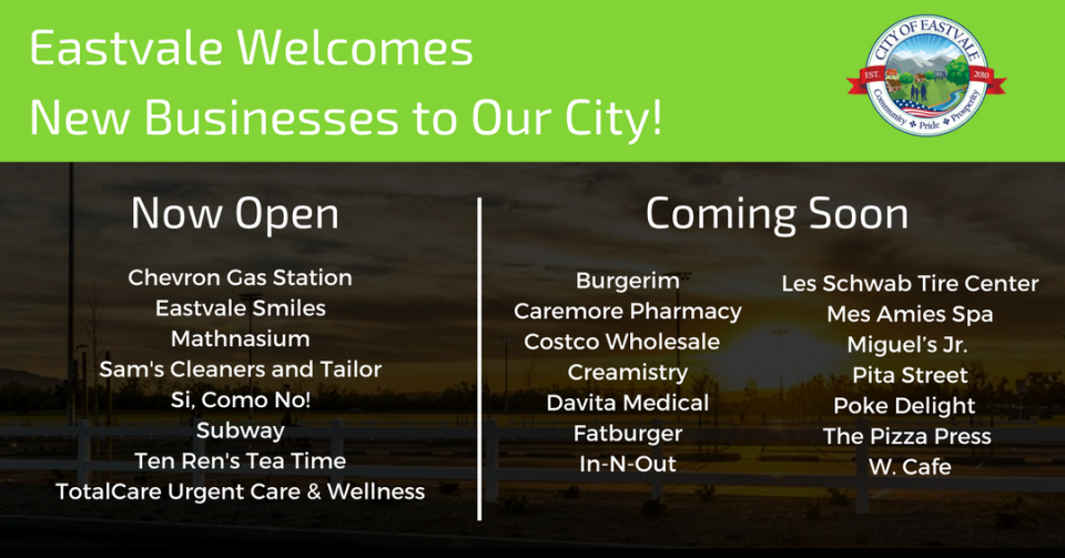 Eastvale Welcomes New Businesses To Our City! (2)