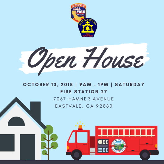 Eastvale Fire Department Open House Invitation