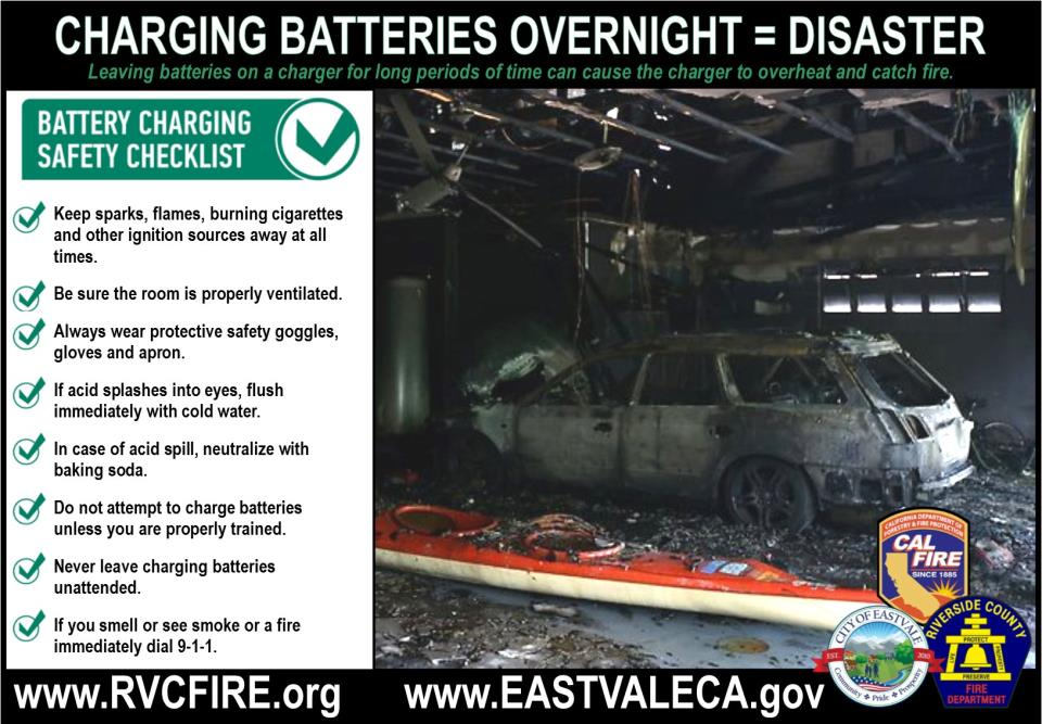 Battery Charging Safety - RVC FD Eastvale