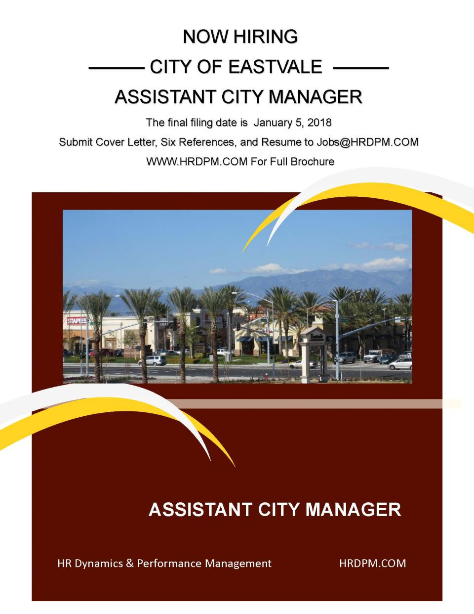 Assistant City Manager Recruitment | News | City of Eastvale, CA