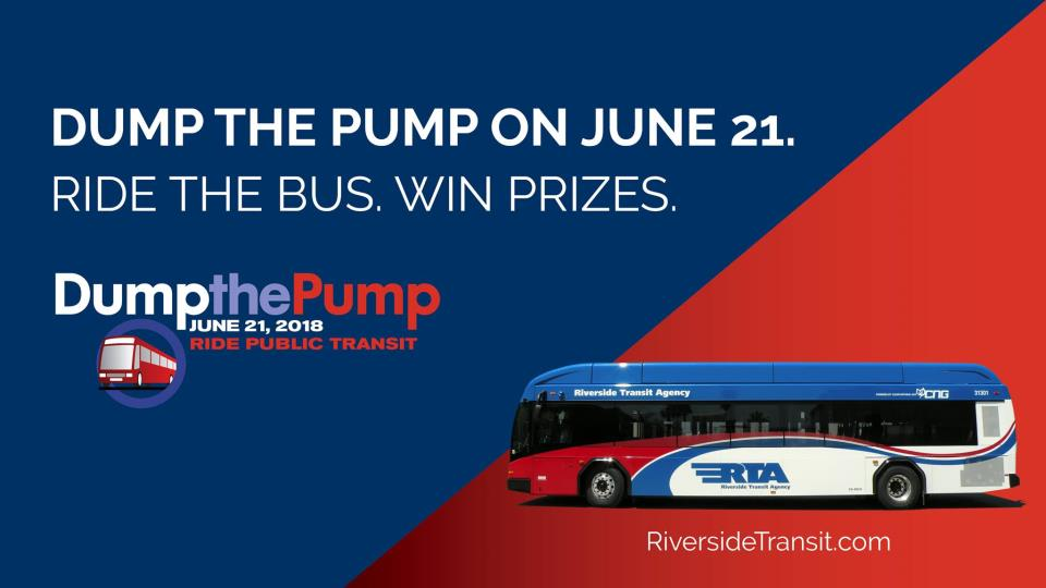 Dump The Pump On June 21!   News   City of Eastvale, CA
