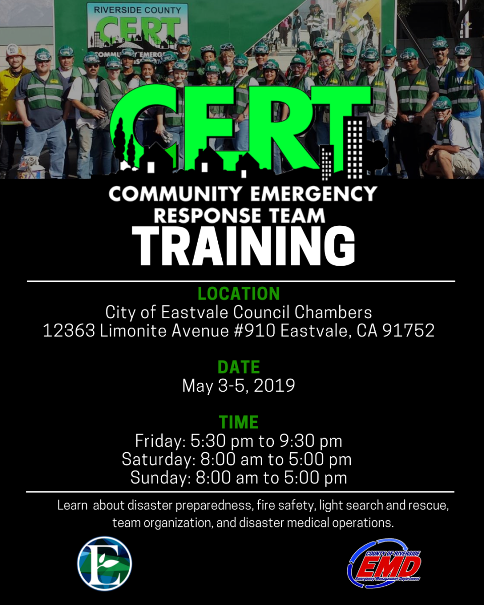 CERT Training Flyer