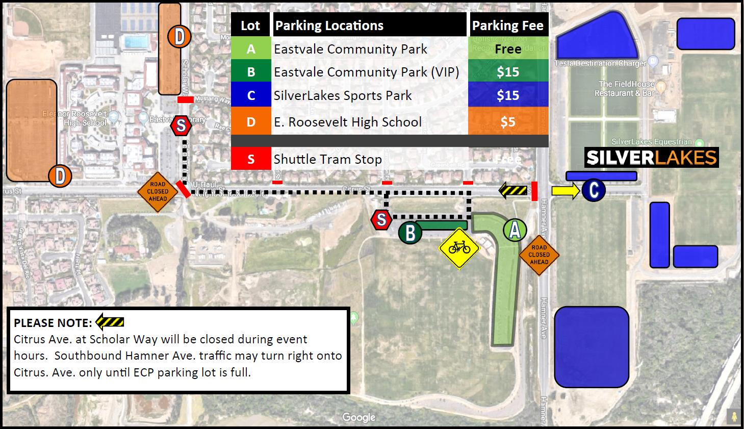 Picnic in the Park 2019 Parking
