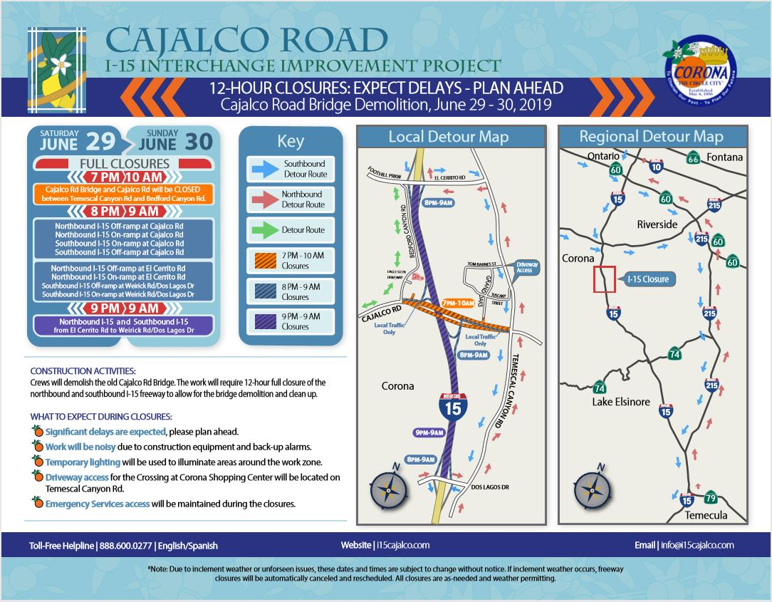 Cajalco Road / I-15 Interchange Improvement Project | News | City of