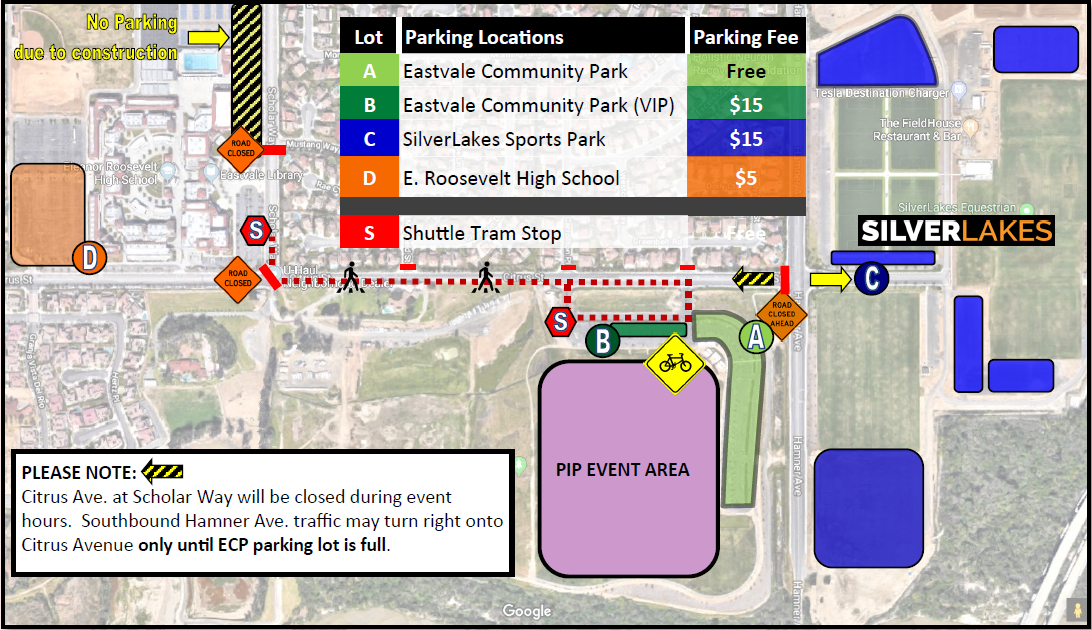 PIP Updated Parking Map